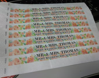 150 Customized Paper Wristbands FULL COLOR