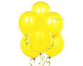 Yellow Balloon Set | Sunflower Party Balloons | Yellow Event Balloons | Flower Party Theme Balloons | Yellow Decoration | Set of 6