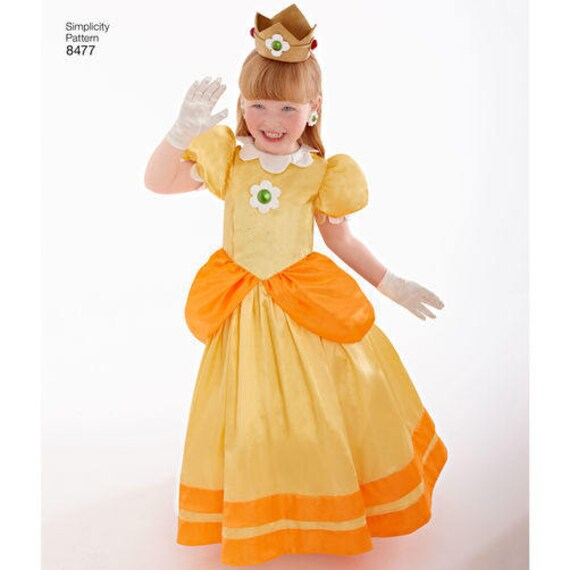 Sewing Pattern Super Girls Mario Princesses Costumes