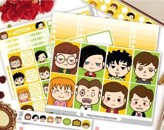 Daria Weekly Kit Planner Stickers | Weekly Kit Stickers | Daria Stickers