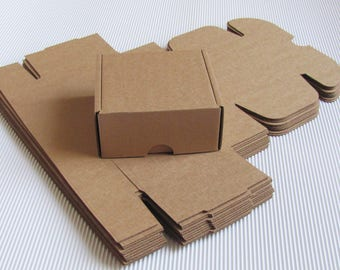 """2x4x4.5"""" Blank Boxes; Set of 10 Cardboard Boxes. Gift Packaging Boxes; Brown Kraft Card Boxes for DIY; Candy Buffet Boxes; Packaging Boxes"""