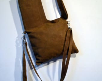 leather shoulder bag hand made in london la rue green colour