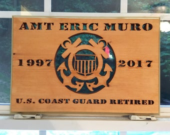 Coast Guard years of service plaque