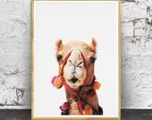 Camel Print, Camel Wall Art, Desert Animal, Nursery Animals, Nursery Animal Print, Desert Print, Arabic Poster, Sahara Desert, African Print