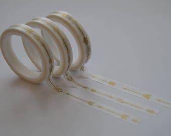 3pcs arrow skinny washi tape