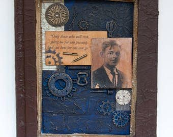 Assemblage Art - Altered Book Art - Mixed Media - T.S. Eliot