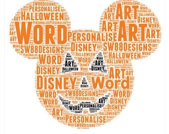 Disney Halloween Word Art