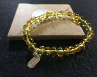 Amber bracelet - healing-6 mm - adult - single model