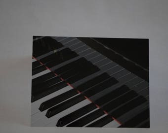 Thank You Cards, Piano, photo cards, set of 5,