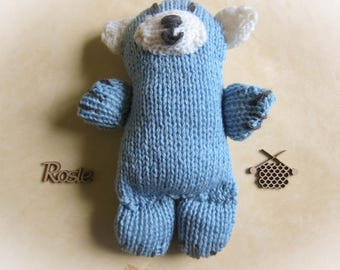 Little Blue and White Teddy Bear