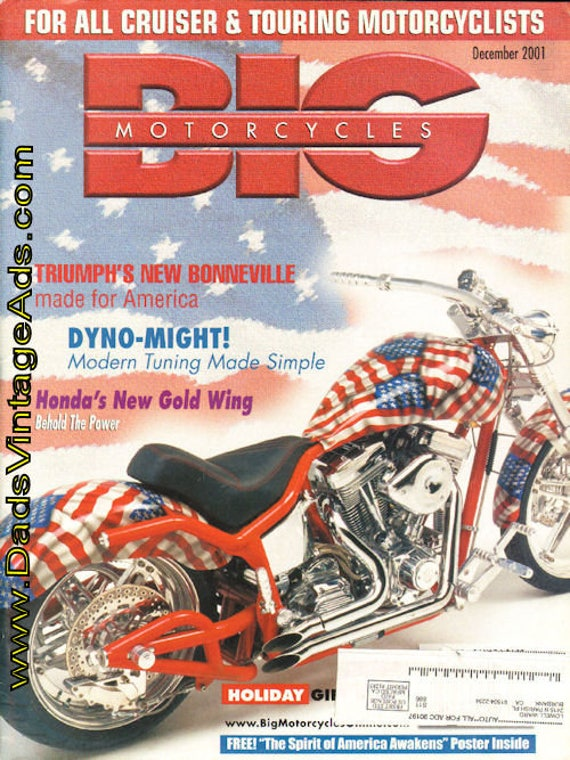 2001 December Big Motorcycles Magazine Back-Issue #mb498