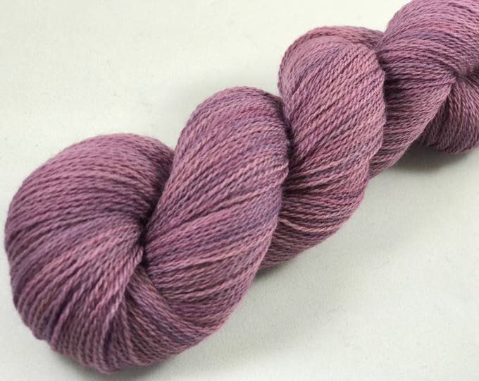 "Featured listing image: Hand Dyed Merino Lace Yarn ""Amethyst"""