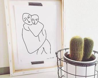 Matisse, Mother and Child, Minimalist Printable Art, Minimalist Prints, Matisse Line, Line Art, Nursery Decor, Nursery Prints, Home Decor
