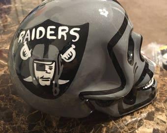 Mexican Calavera skull helmet Oakland Raiders Candle Holder