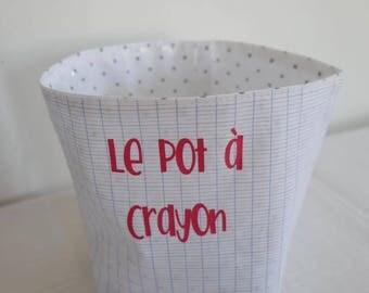 Small pencil holder fabric case