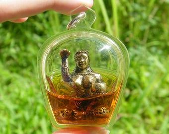 Mystic Love Goddess Oil Thai Amulet Locket Pendant Lucky Charm Money Caller Talisman/ Eternal Love Magic/ Prai Oil Buddha #12740
