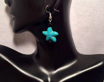 Turquoise Starfish Earrings