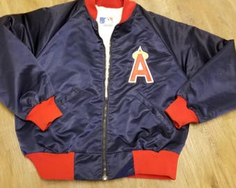 Large California angels starter jacket, starter jacket,80's, 90s, satin jacket, vintage,mlb jacket