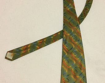 Vintage 1970s Wide and Extra Long Designer Collection by Regal Necktie