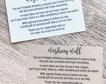 SALE- 20 x Wishing well cards. Invitation. Weddinds. Engagements