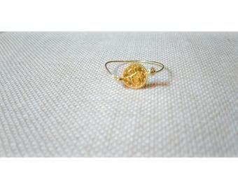 PAULINE ring gold plated and zamak
