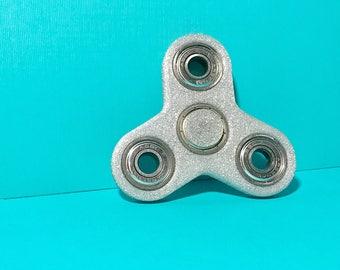 Summer Spinner Sales! Sparkle Spinner! 3D Printed Fidget Toy, Fidget Spinner, Finger Spinner, Tri- Spinner, Customized Cap Color