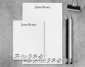 Personalized Notepad Set | Music Notepads | Music Stationery Set | Music Stationary Set | Music Custom Notepad | Music Lover | PSNTP_0053