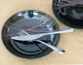 Handmade Plates Set of 2, pottery plates, dinner plates, stoneware plates, serving plates