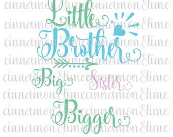 Little Brother Svg, Little Sister Svg, Big Brother Svg, Big sister Svg, New Baby SVG, Sibling svg, Newborn Svg, Sister Svg, Brother Svg