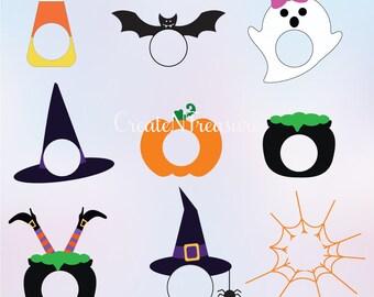 Halloween monograms svg, monogram frames svg, Thanksgiving svg, Ghost svg, Pumpkin svg. Cut file for Silhouette and Cricut. SVG, DXF, PNG.