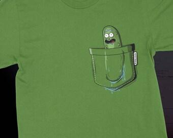 Rick and Morty Pickle Rick Pocket Design - I'm In A Pocket!