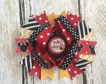 Layered Minnie Mouse Hair Bow Minnie Mouse Hair Bow Minnie Mouse Birthday Bow Minnie Mouse Bow Minnie Mouse Hair Clip