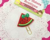 Planner clip - glitter red watermelon