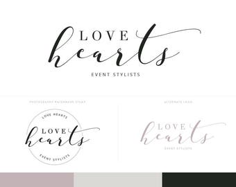 Script Logo Design Branding Package Inc. Photography Watermark - Romantic Script Style