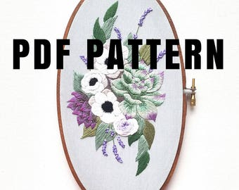 Hand embroidery etsy for Hand thread painting tutorial