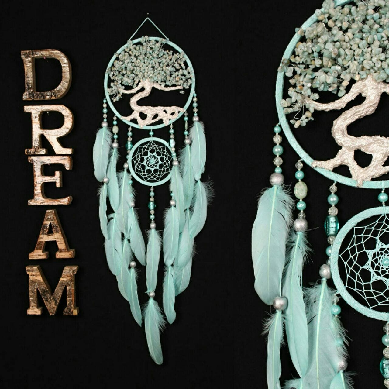 Can Dream Catchers Get Full Mint Dream Catcher Tree of life amazonite Dreamcatcher mint 15