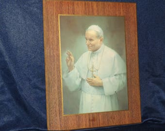 Vintage Picture of Pope John Paul II