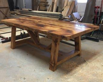 Reclaimed Chunky Farm Table - Authentic