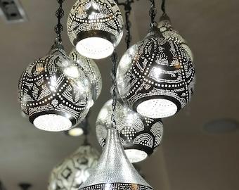 Handcrafted Morrocan design chandelier