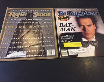 Batman movies Rolling Stone Magazines 1989 and 1992