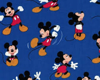 """Mickey traditional by Springs Creative, By the Half Yard, 43"""" wide, 100% cotton, disney fabric, mickey fabric, licensed fabric"""
