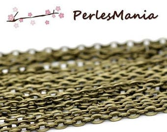 10 m chain BRONZE 363298 46 mesh 2.8 by 4mm for creating necklaces