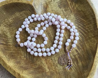 Sweet Love | 108 Mala Beads | Rose Quartz | Mala Necklace