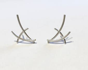 Mangrove Collection Ear Climber style studs - Pair