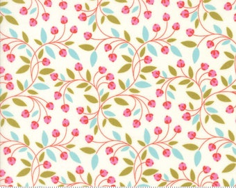 "Moda ""Wing & Leaf"" by Gina Martin ~ Buds and Vines ~ Cloud 10065 11 ~ By The Half Yard ~"