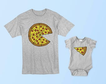 Pizza Pie - Pizza Slice - Matching Set (Adult & Baby/Toddler)