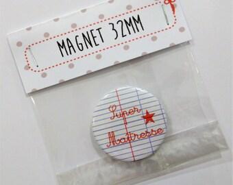 32mm magnet sheet of Super teacher notebook