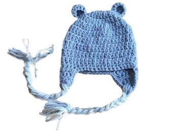 newborn bear hat, baby bear hat, crochet bear hat, infant bear hat, crochet baby hat, knit bear hat, baby hat with ears, bear photo prop