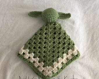 Star Wars yoda lovey crochet lovey yoda lovey baby toy