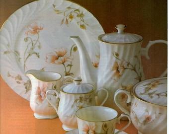 1984 Gorham Fine China ware vintage magazine ad kitchen decor wall decor 1705